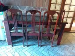 Mesa 6 cadeira de vidro