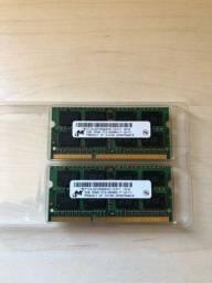 3 Peças de Memória RAM 2GB - Notebook