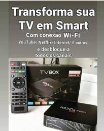 Transforme sua TV em uma Smart TV, tv box