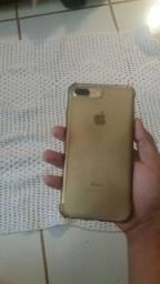 Vendo iphone 7plus Gold. Aceito cartão