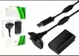 Título do anúncio: Bateria Para Controle Xbox 360 Com Cabo E Carregador