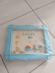 Título do anúncio: Quadro Infantil Bebê Personalizado Com o Nome Lucas Semi-novo