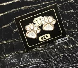 Brinco Prata 925 Pata Dog