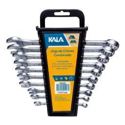 Jogo de Chaves Combinadas 6 a 17mm 10 Peças Kala