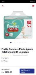 Fralda Pampers M 84unid