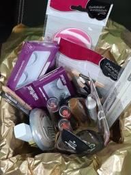 Kit de maquiagem + acessórios com 17 itens
