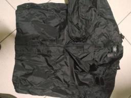 Jaqueta preta para motoqueiro