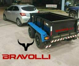 Título do anúncio: Reboque duplo eixo Basculante BRAVOLLI