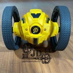Carrinho controle remoto - jumping car, pula até 1m, controle giroscópio com as mãos