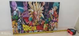 O kit os 4 Quadros Dragon Ball Super por 55,00 R$