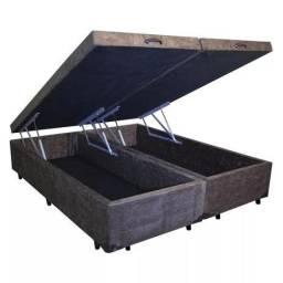 Título do anúncio: Base Box Baú Bi-partida Casal - 1,38x1,88x35 cm - Somos Fabricantes