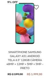 Título do anúncio: Galaxy A51 128GB, LACRADO, NOTA FISCAL, SÓ VENDA