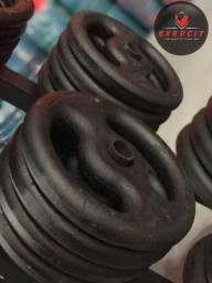 Título do anúncio: Anilha 3 kg ferro nova Loja Exercit Esportes Artigos Esportivos