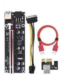 Placa PCI-e Riser  1x para 16x V009S-Plus 8 Capacitores