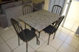 Mesa Granito com 4 cadeiras