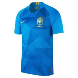 414a5f7713ec6 Camisa Brasil Cbf Selecao 18 azul SN tam  p-m-g-gg-xg
