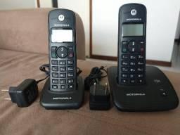 Telefone sem fio Motorola + 1 Ramal c/ Id. Chamadas