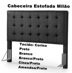 95cea97d5cf Cabeceira de Casal Estofada Tecido Corino e Sued   Pronta entrega   21  96426-5604