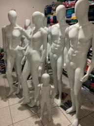 Manequins - 2 Masc, 4 Fem e 2 Infantis