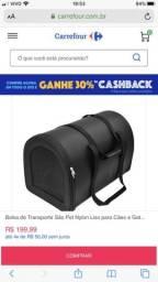 Bolsa transporte cães pequeno porte