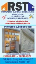 Eletricista prédial e residencial padrão credenciado pela CEB