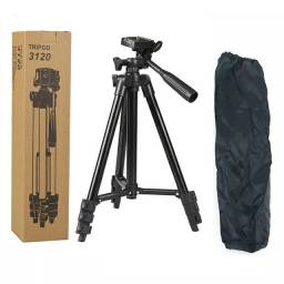 Tripé Profissional para câmera celular até 1,20 preto alumínio top