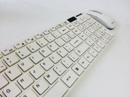 Kit Teclado e Mouse Wireless Sem Fio 2.4Ghz Bk-S1000 Exbom Novo