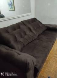 Sofa NA Cor Marron Chocolate / Gigantao !!!!