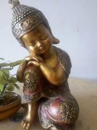 Decoração estátua Buda 30cm