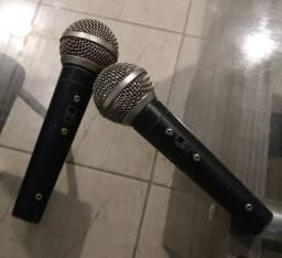 02 microfones LESON - valor para os dois