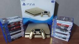 PS4 Slim 1Tb Gold com garantia- SOMOS LOJA