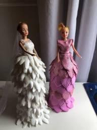 Barbie feita com garrafa pet