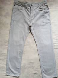 Calça Z Zegna com Elastano, Beje Made in USA