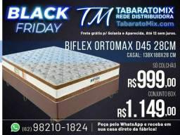 Black Friday! Conj. Casal Ortomax Biflex  28Cm Espuma D45!<br>PRORROGAÇÃO BLAK FRIDEY