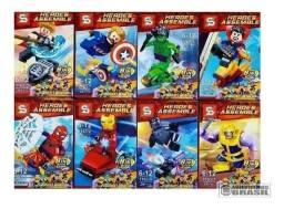 Boneco hulk, thanos , groot,venun, hulk buster Big lego / na caixa coleção avengers