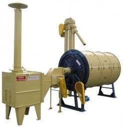 Secador rotativo para café e outros grãos