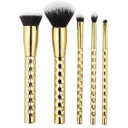 Título do anúncio: Kit com 5 Pincéis Profissionais Precious Gold Macrilan
