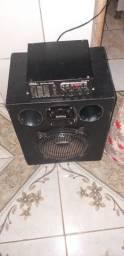 Caixa trio residencial com amplificador