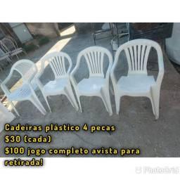Cadeiras plástico