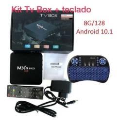Aparelho Tv Box 8gb + 128gb + Teclado
