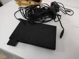 PlayStation 2, destravado, + memory card.