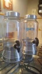 Suqueiras de vidro.