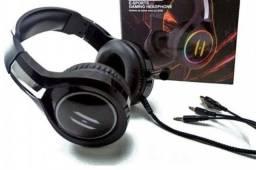 Fone Headset E-sport Gaming Headphone Profissional Lehmox