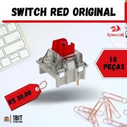 Título do anúncio: Switch Vermelho/Red - 10 peças para teclado mecânico