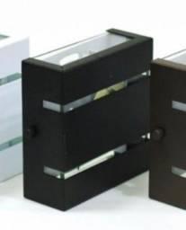 Arandela Slim alumínio preto externa interna