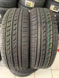 Título do anúncio: 02 pneus 195/55/16 instalados (aprovados pelo inmetro))