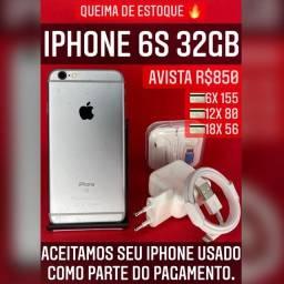 iPhone 6s 32gb, temos loja física