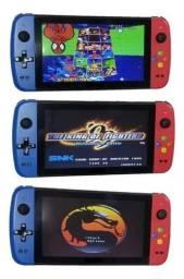 Video Game Ps1/N64/Arcade e outros, 32Gb, Tela Grande, 2 controle e HDMI