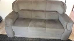 sofá 3 lugares em bom estado