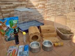 Título do anúncio: Acessórios para mini coelhos e roedores em geral